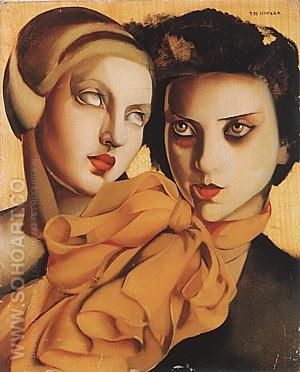 The Orange Scarf, 1927 - Tamara de Lempicka reproduction oil painting