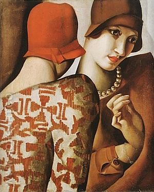 Sharing Secrets, 1928 - Tamara de Lempicka reproduction oil painting