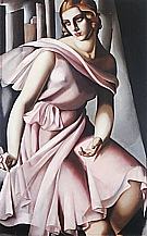 Portrait of Romana de La Salle, 1928 - Tamara de Lempicka reproduction oil painting