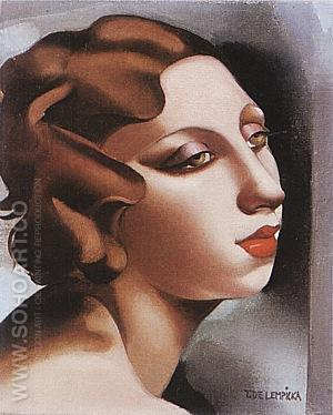 Portrait of a Young Lady 1928 - Tamara de Lempicka reproduction oil painting