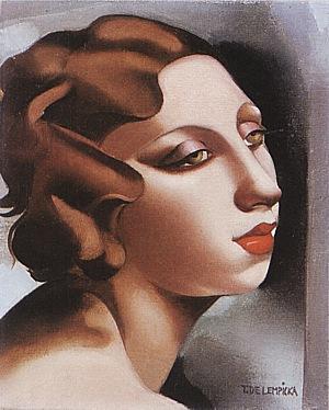 Portrait of a Young Lady 1928 - Tamara de Lempicka reproduction oil painting