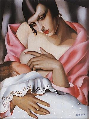 Maternite, 1928 - Tamara de Lempicka reproduction oil painting