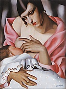 Maternite, 1928 - Tamara de Lempicka reproduction oil painting