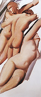 Three Nudes, 1929 - Tamara de Lempicka reproduction oil painting