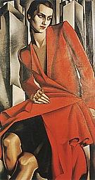 Portrait of Mrs. Bush, 1929 - Tamara de Lempicka reproduction oil painting