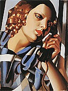 The Telephone II, 1930 - Tamara de Lempicka reproduction oil painting
