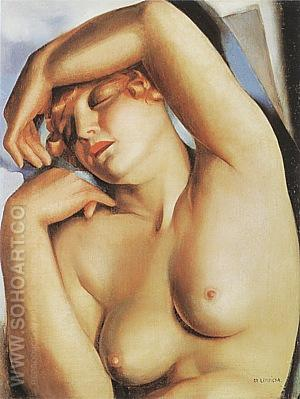 Sleeping Girl 1930 - Tamara de Lempicka reproduction oil painting