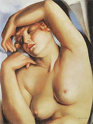 Sleeping Girl 1930 - Tamara de Lempicka reproduction oil painting
