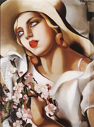 The Straw Hat, 1930 - Tamara de Lempicka reproduction oil painting
