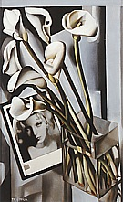 Arlette Boucard with Arums, 1931 - Tamara de Lempicka reproduction oil painting