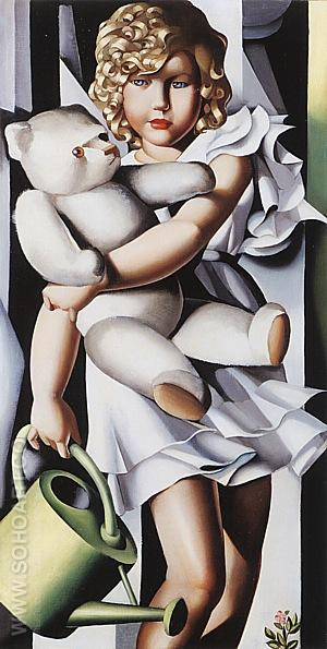 Portrait of Miss Poum Rachou, 1933 - Tamara de Lempicka reproduction oil painting