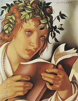 Graziella 1937 - Tamara de Lempicka reproduction oil painting