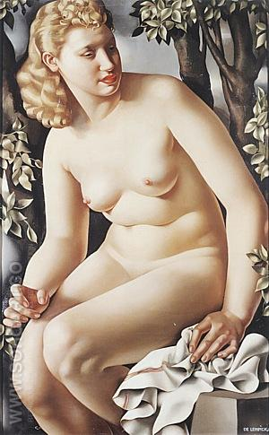 Suzanne Bathing, 1938 - Tamara de Lempicka reproduction oil painting
