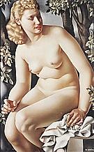 Suzanne Bathing, 1938 - Tamara de Lempicka