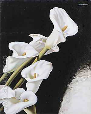 Arums (Study) Circa, 1938 - Tamara de Lempicka reproduction oil painting