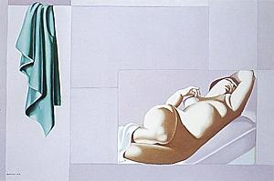Raphaela in Mauve, 1957/75 - Tamara de Lempicka reproduction oil painting