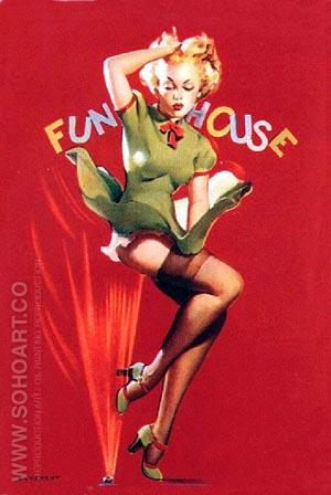 Funhouse - Pin Ups reproduction oil painting