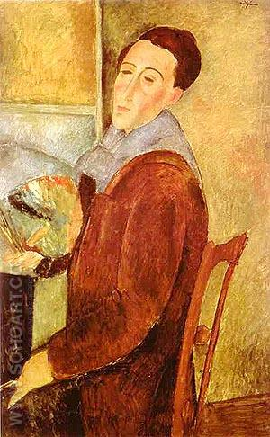 Self-Portrait 1919 - Amedeo Modigliani reproduction oil painting
