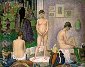 The Models 1888 - Georges Seurat reproduction oil painting