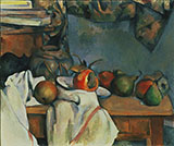 Ginger Pot with Pomegranate - Paul Cezanne reproduction oil painting