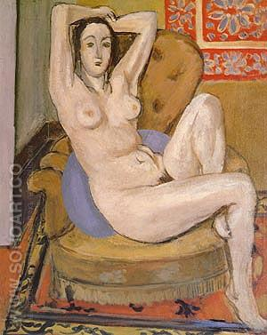 Nude Seated on a Blue Cushion 1924 - Henri Matisse reproduction oil painting