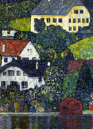 Village of the Seaside - Gustav Klimt reproduction oil painting