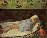 Young Girl Dreaming Study of a Child Asleep 1881 - Paul Gauguin