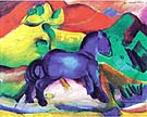 Blaues Pferdchen 1912 - Franz Marc reproduction oil painting