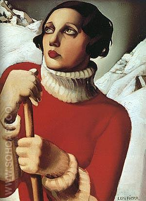 St. Moritz, 1929 - Tamara de Lempicka reproduction oil painting