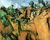 Bibemus Quarry 1895 - Paul Cezanne reproduction oil painting