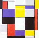 Composition A87 - Piet Mondrian reproduction oil painting