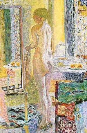 Nude in the Mirror 1931 - Pierre Bonnard reproduction oil painting