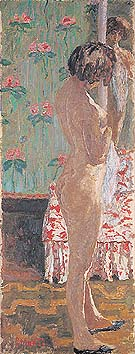 Woman in Front of a Mirror 1908 - Pierre Bonnard reproduction oil painting