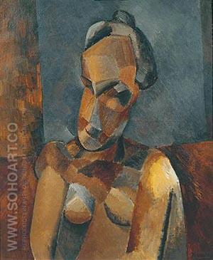 Bust of a Woman 1909 - Pablo Picasso reproduction oil painting