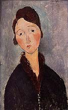 Portrait of a woman 1918 - Amedeo Modigliani reproduction oil painting