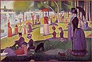 Sunday Afternoon on the Island of the Grande Jatte - Georges Seurat reproduction oil painting