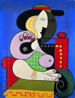 Frau mit Armbanduhr - Pablo Picasso reproduction oil painting