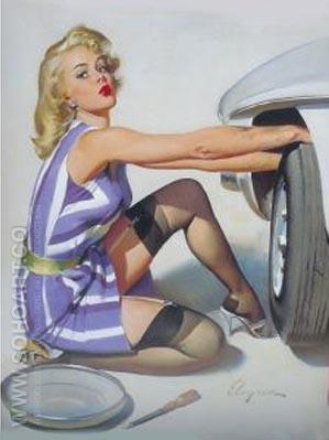 Untitled - Pin Ups reproduction oil painting