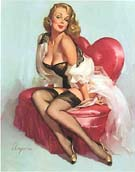 Sweetheart - Pin Ups reproduction oil painting