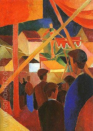 The Tightrope Walker 1914 - August Macke reproduction oil painting