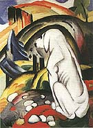 Hound before the World - Franz Marc reproduction oil painting
