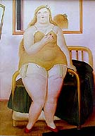 Woman Undressed 1987 - Fernando Botero