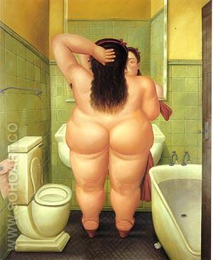 The Bath 1989 - Fernando Botero reproduction oil painting
