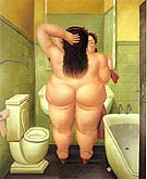 The Bath 1989 - Fernando Botero