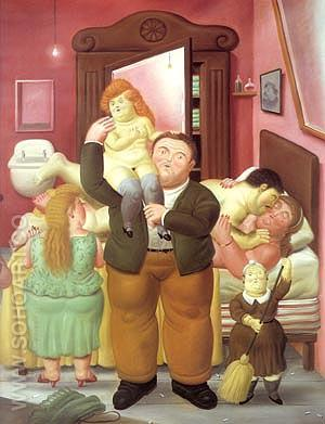 The House of Amanda Ramirez 1988 - Fernando Botero reproduction oil painting