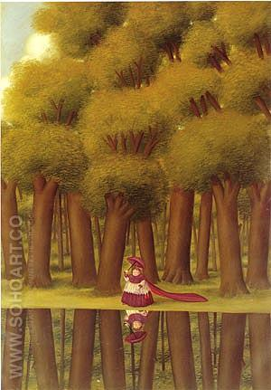 Stroll by the Lakeside1988 - Fernando Botero reproduction oil painting