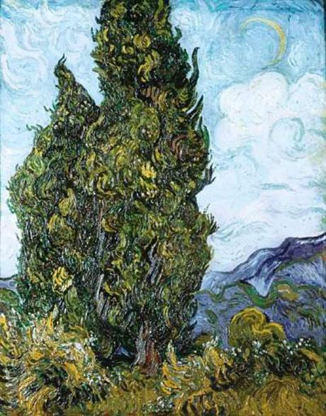 Cypresses 1889 - Vincent van Gogh reproduction oil painting