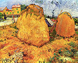 Haystacks in Provence 1888 - Vincent van Gogh reproduction oil painting