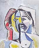 Femme au Chapeau 1954 - Pablo Picasso reproduction oil painting