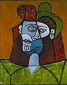 Femme au Chapeau Vert 1947 - Pablo Picasso reproduction oil painting